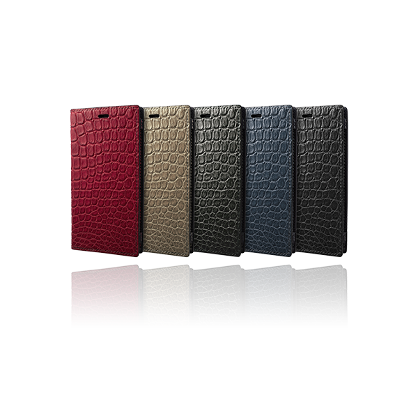 GRAMAS Meister Crocodile Leather Book Case MLC-90359 for iPhone XS/X