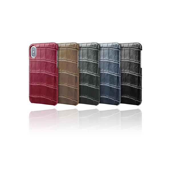 GRAMAS Meister Crocodile Leather Shell Case MSC-90319 for iPhone XS/X