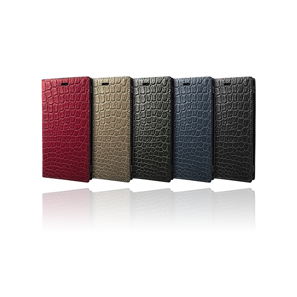 GRAMAS Meister Crocodile Leather Book Case MLC-92429 for iPhone XR