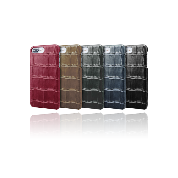 GRAMAS Meister Crocodile Leather Shell Case MSC-90219 for iPhone 8 Plus/7 Plus/6s Plus/6 Plus