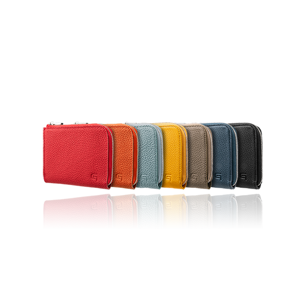 GRAMAS German Shrunken-calf Genuine Leather L Shaped Zipper mini Wallet Ver.2 GLWSC-LG19