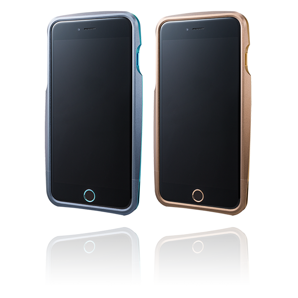 GRAMAS Round Metal Bumper Limited MB544PL for iPhone 6 Plus