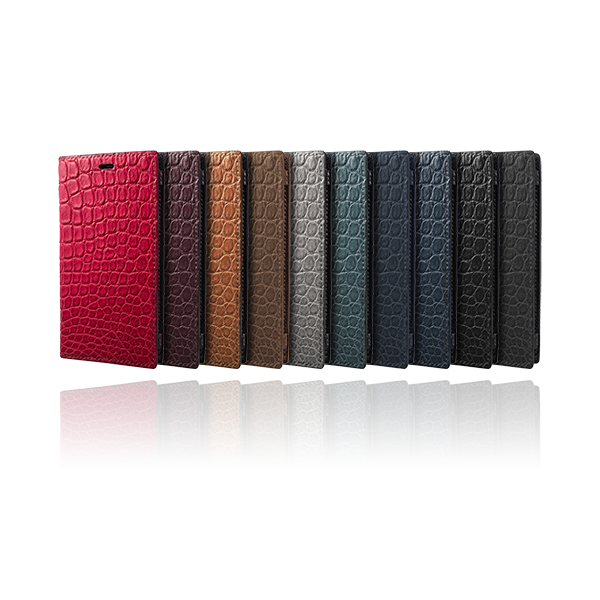 GRAMAS Meister Book Crocodile Leather Case MLC-90357 for iPhone X