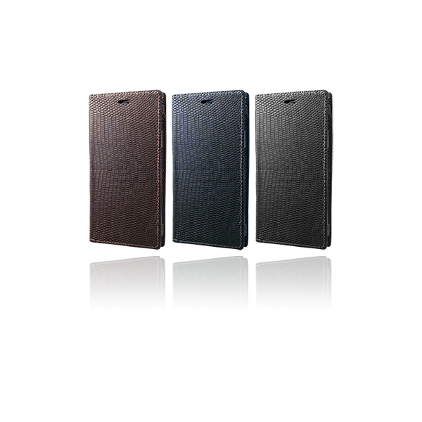 GRAMAS Meister Lizard Leather Book Case MLC-92468 for iPhone XR