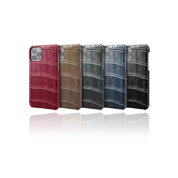 GRAMAS Meister Crocodile Leather Shell Case MSCCR-IP03 for iPhone 11 Pro Max