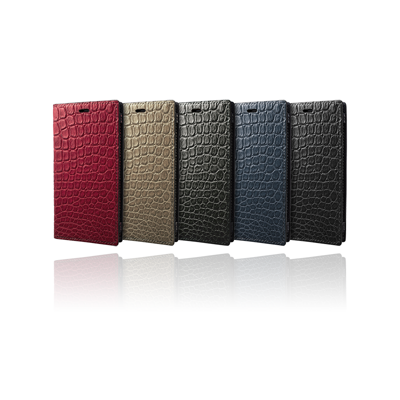 GRAMAS Meister Crocodile Leather Book Case MBCCR-IP01 for iPhone 11 Pro