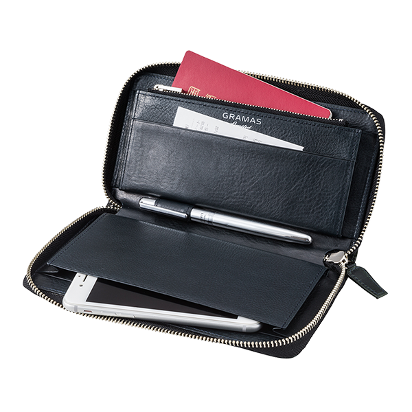GRAMAS SingleZip Organizer Wallet Limited 2016FW Dark Green Camo GOG816L3DGCA