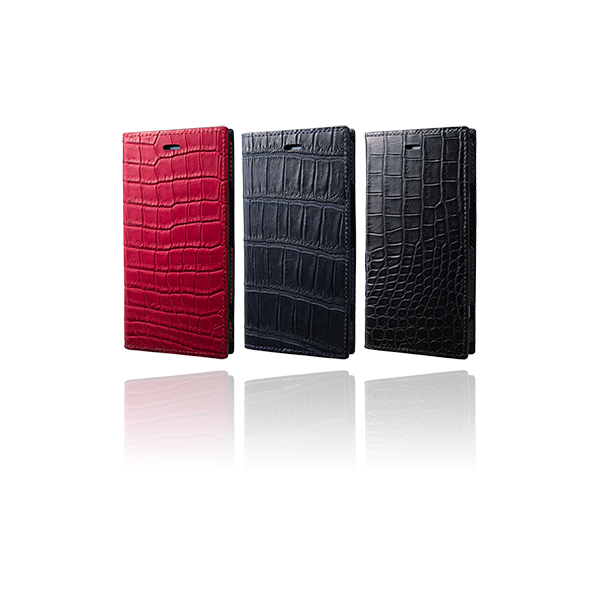 GRAMAS Meister Book Crocodile Leather Case MLC-91417 for Xperia XZ1